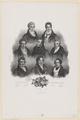 Gruppenbildnis von Ch�rubini, Spontini, Boyeldieu, Rossini, Auber, Paer, Berton, Meyerbeer, J. Bulla - 1831 (Quelle: Digitaler Portraitindex)