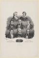 Gruppenbildnis von Schiller, Byron, Tomas Moore, Walter-Scott, Goethe, Washington Irving, Vittorio Alfieri und Cooper, J. Bulla-1833 (Quelle: Digitaler Portraitindex)