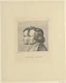 Doppelbildnis des Jacob und Wilhelm Grimm, Ludwig Emil Grimm-1843 (Quelle: Digitaler Portraitindex)