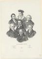 Gruppenbildnis des Wilhelm von Humboldt, des Christoph Wilhelm Hufeland, des Alexander von Humboldt, des Georg Wilhelm Friedrich Hegel, des Carl Ritter, des August Neander und des Friedrich Schleiermacher, Julius Schoppe (der  ltere) - um 1830 (Quelle: Digitaler Portraitindex)