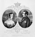 Doppelbildnis der K�nigin Victoria von England und ihres Gemahls Albert von Sachsen-Gotha, Christian Inger - um 1857 (Quelle: Digitaler Portraitindex)