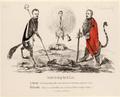 Karikatur auf Joseph Maria von Radowitz (1797 - 1853), Heinrich von Gagern (1799 - 1880), Arnold Ruge (1802 - 1880)., Monogrammist CM - 1848 (Quelle: Digitaler Portraitindex)