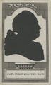 Scherenschnittportrait von Carl Philip Emanuel Bach, 1770/1800 (Quelle: Digitaler Portraitindex)
