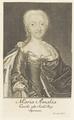 Bildnis der Maria Amalia, K�nigin von Spanien, Bernigeroth, Johann Martin - 1738/1767 (Quelle: Digitaler Portraitindex)