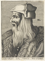 Bildnis des Lionardo da Vinci, Nicolas de Larmessin - 1682 (Quelle: Digitaler Portraitindex)