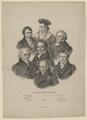 Gruppenbildnis mit Wilhelm v. Humboldt, Friedrich Schleiermacher, Georg Wilhelm Friedrich Hegel (Das Gelehrte Berlin I.), Julius Schoppe (der  ltere) - 1810/1868 (Quelle: Digitaler Portraitindex)
