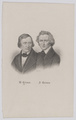 Doppelbildnis des W. Grimm und des J. Grimm, Froer, Veit-1843/1898 (Quelle: Digitaler Portraitindex)