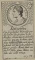 Bildnis des Aristoteles, 1601/1750 (Quelle: Digitaler Portraitindex)