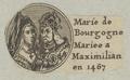 Bildnis von Marie de Bourgogne und Kaiser Maximilian, 1601/1750 (Quelle: Digitaler Portraitindex)