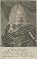 Bildnis des Christian, Herzog von Sachsen-Weißenfels, Bernigeroth, Martin (ungesichert)-1701/1750 (Quelle: Digitaler Portraitindex)